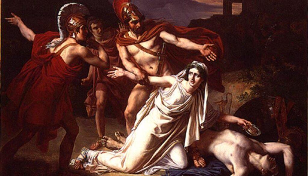 Sébastien-Norblin-Antigone-donnant-la-sépulture-à-Polynice-Public-Domain-via-Wikimedia-Commons